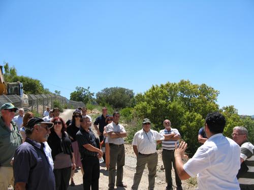מנהלי המחוזות מסיירים עם ראש עיריית צפת