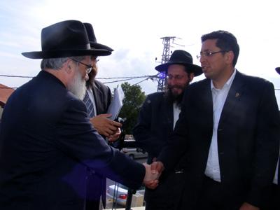 עם ראש העיר