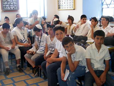 תלמידי כיתה ז בפרויקט בר מצווה