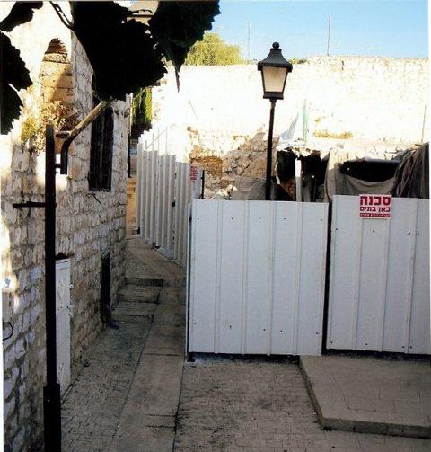 בית הונגר לאחר תחילת העבודות