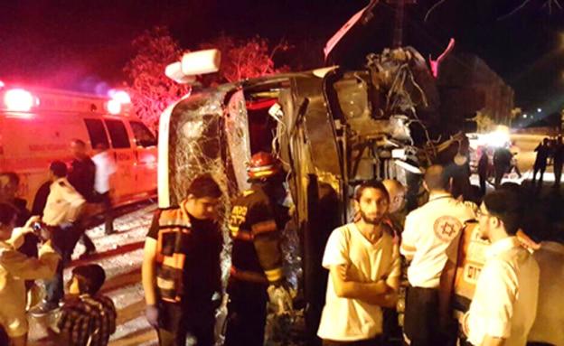 אוטובוס התהפך בצפת, 3 נפצעו קל